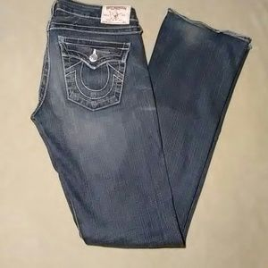 """TRUE RELIGION """"BECKY"""" BOOT CUT JEANS-SIZE 27"""